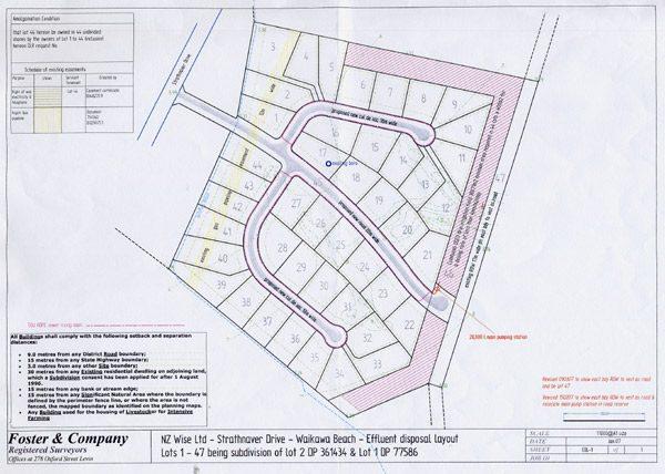 Strathnaver Drive subdivision plan.
