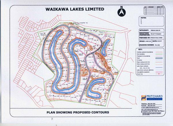 Waikawa Lakes subdivision plan.