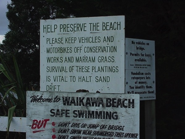 Help preserve the beach.