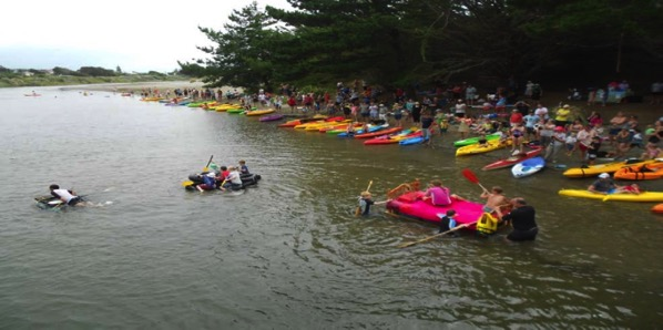 The raft race start.