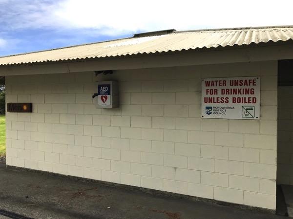 Waikawa Beach AED defibrillator.