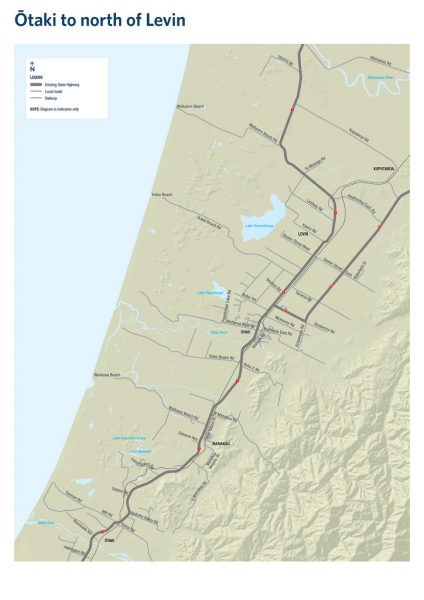 Project area: Otaki to north of Levin project area.