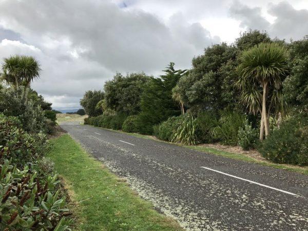 Waikawa Beach village entrance mid-July 2017.