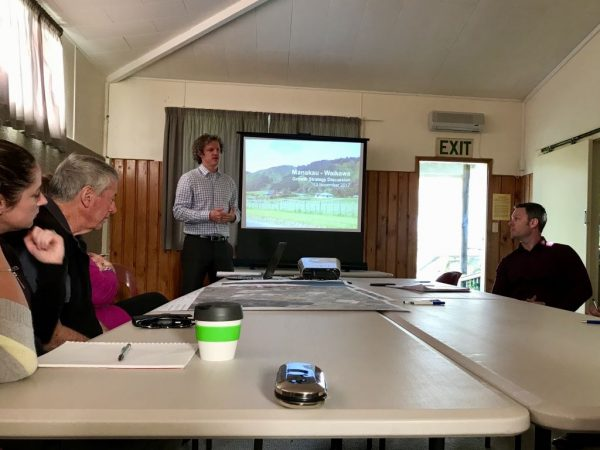 Horowhenua District Council presentation, David McCorkindale at the screen.