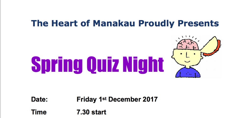 Manakau quiz night.