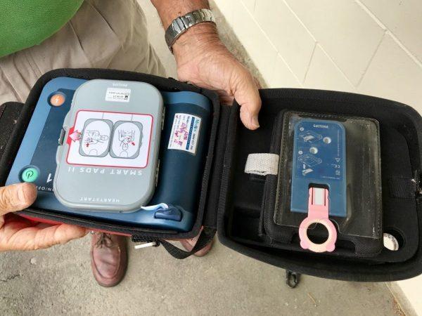 AED Defibrillator — inside.