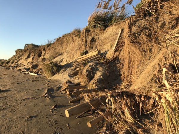 22 April 2018 - a lot of sand has been eroded.