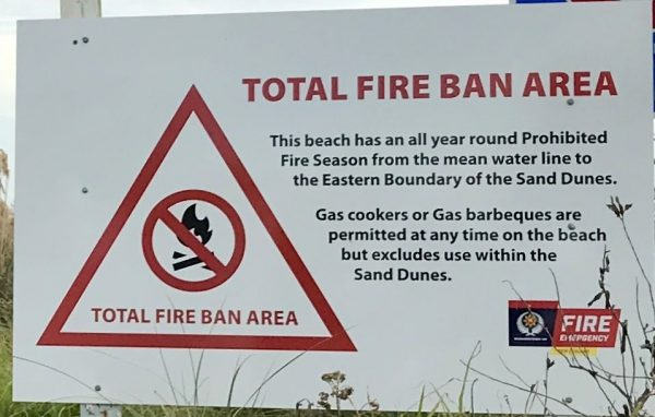 Total Fire Ban Area.