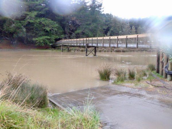 Footbridge, with bonus raindrops.