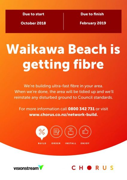 Waikawa Beach is getting fibre.