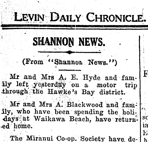 Levin Daily Chronicle Social Notes.
