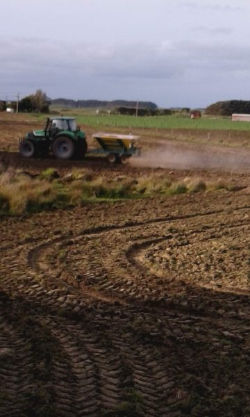 The previous Drake land now being prepared and cultivated by the new owners for crops required today.