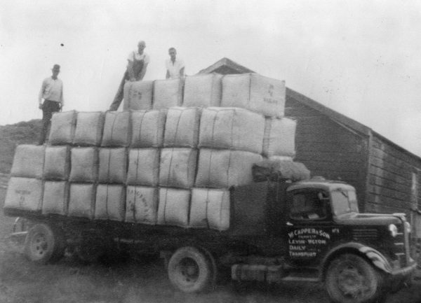 Gary's photo of the W. Capper & Sons Cartage Contractor's truck laden with bales of wool, taken during the 1950's.