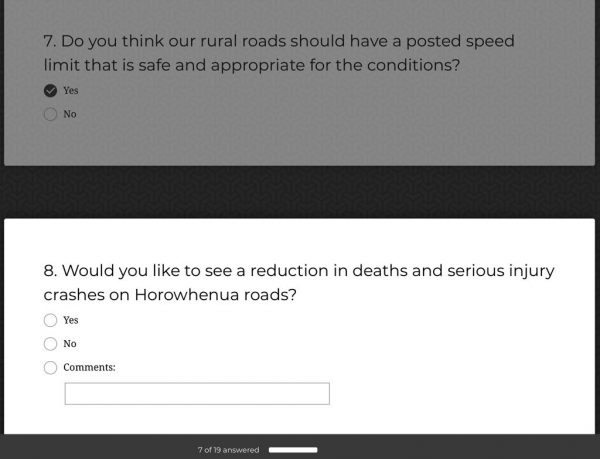 Odd road survey questions.