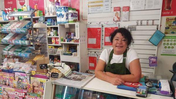 Sonya Martin in the Manakau Store in Horowhenua.
