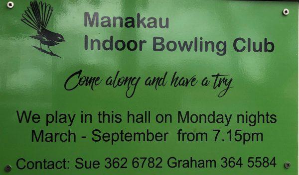Manakau Indoor Bowling Club details.