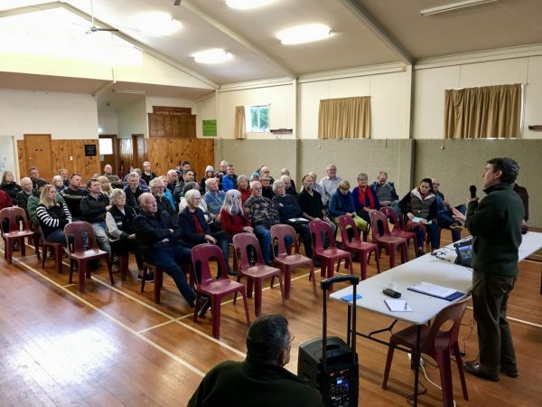 A good crowd turned up for the meeting.