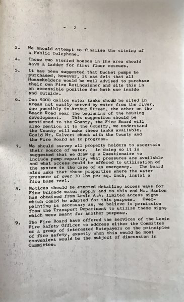 Fire Committee Report 30 November 1974 Page 2.