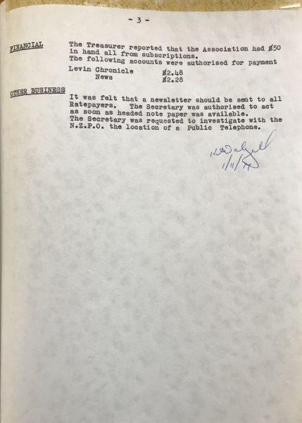 WBRA Minutes 15 September 1974 Page 3.