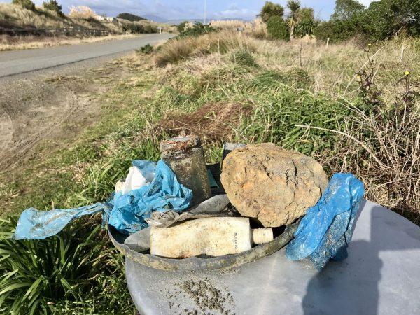 Beach rubbish.