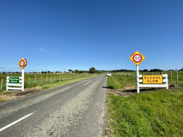 Village entrance speed signs - 50 Kph coming up.