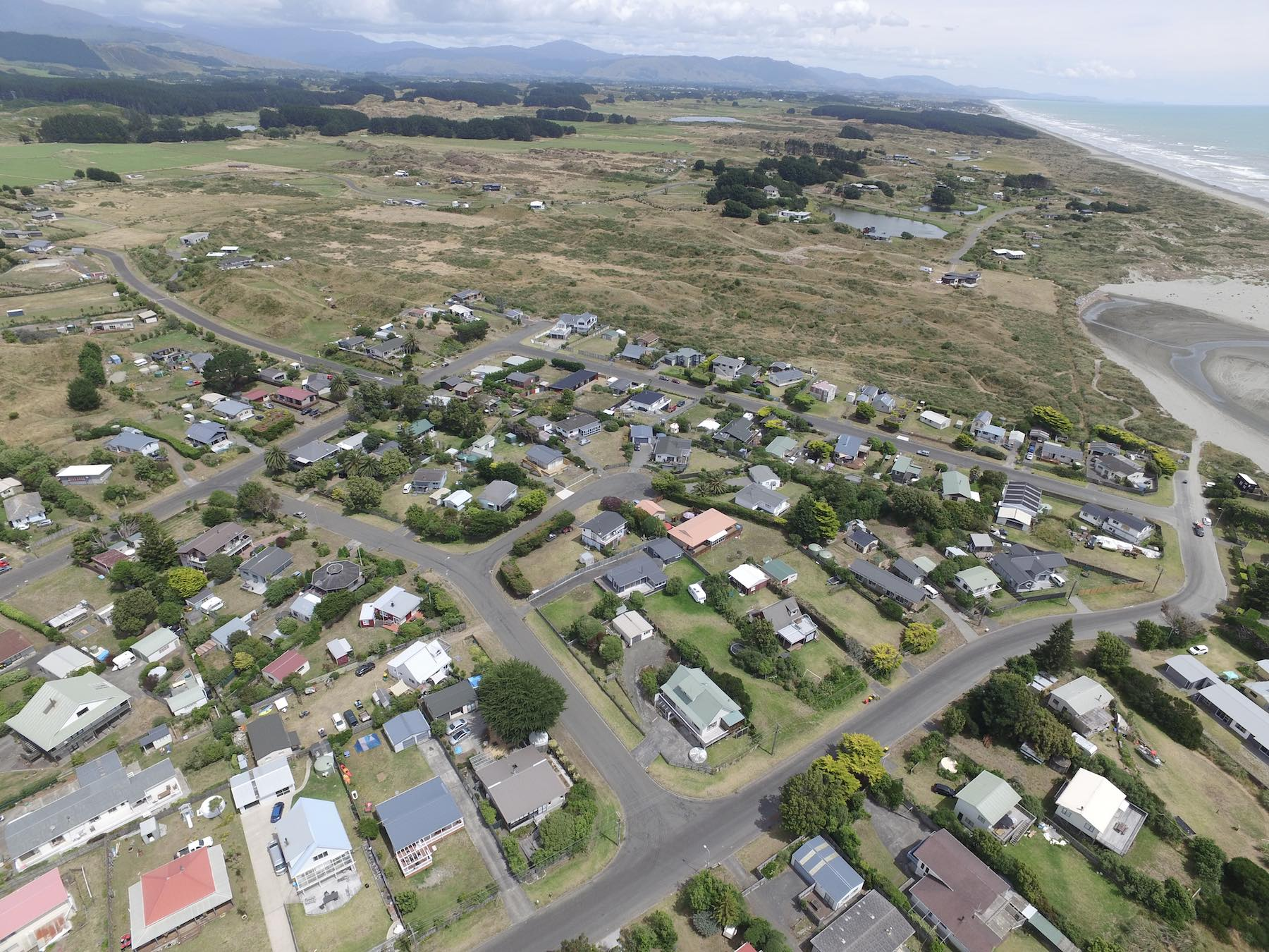 Drone Photo 0400. Village and Strathnaver.
