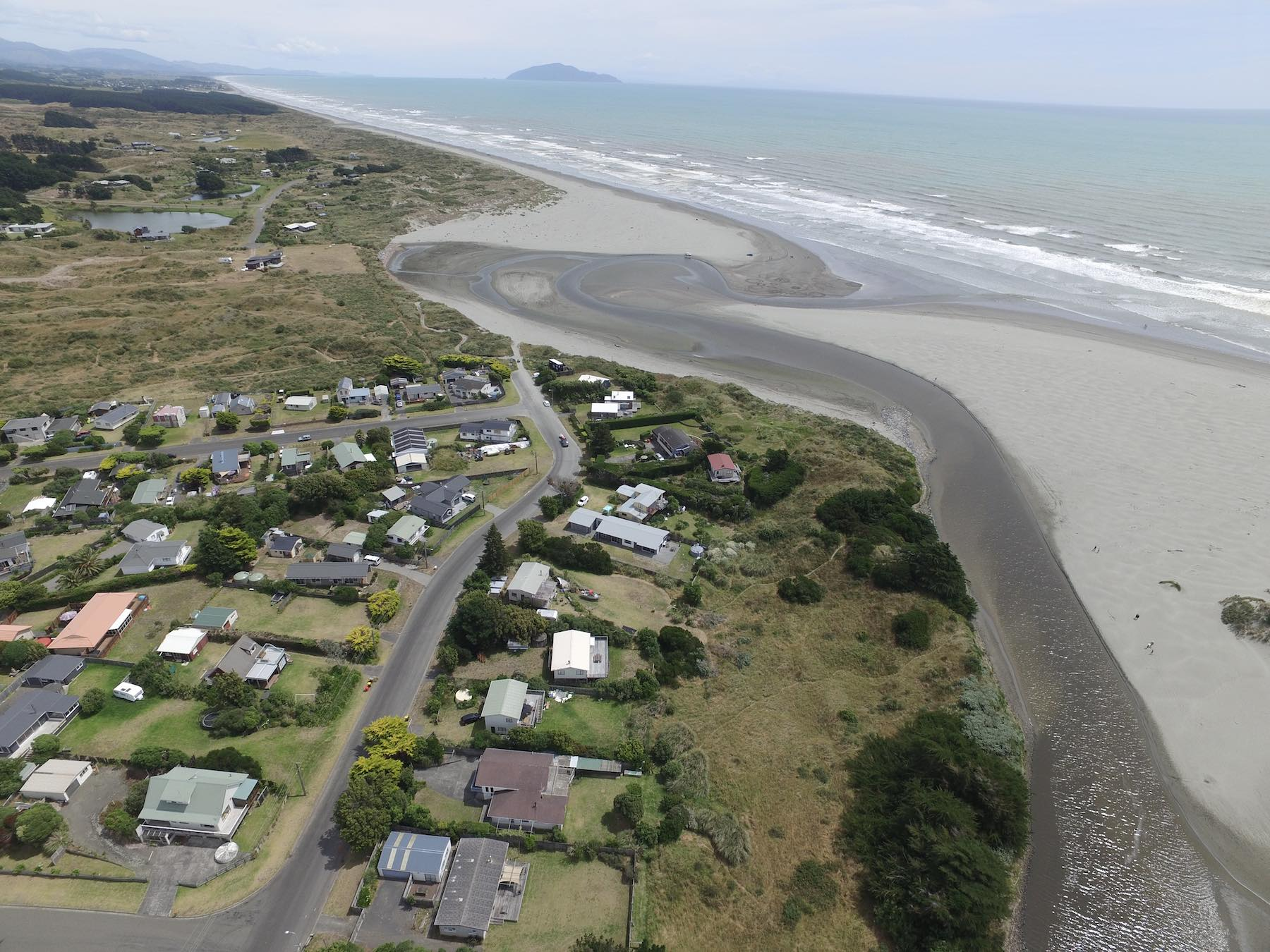 Drone Photo 0401. Coastal Waikawa Beach.