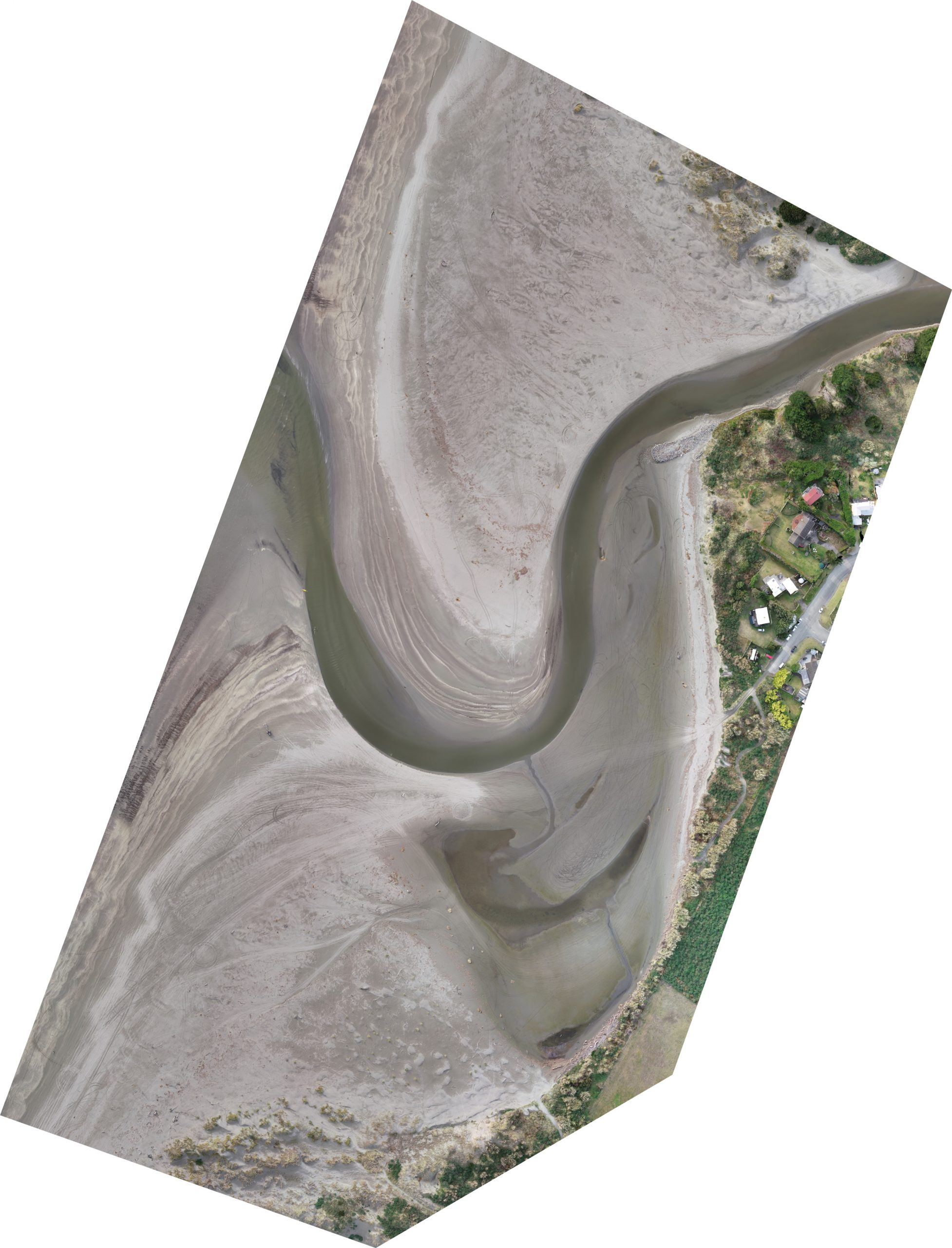 River mouth drone photo 31 May 2020.